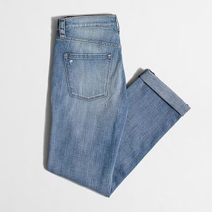 J Crew | Distressed Boyfriend Stretchy Jeans 26
